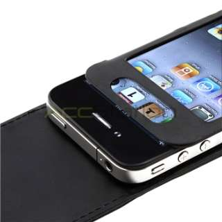 Premium Leather Case+Screen Cover for iPhone 4 4S 4G 4GS 4G