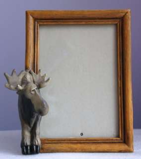 Big Sky Carvers Moose Photo Frame Cabin Lodge Decor