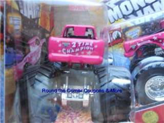 2012 HOT WHEELS Monster Jam MADUSA DARK PINK NEW PAINT New Truck 1/64