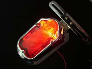 CHROME AFTERMARKET TOMBSTONE TAIL LIGHT FOR HARLEY CHOPPER BOBBER