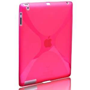 TPU Skin Cover Case For Apple iPad 2 WIFI 3G + Screen Protective Film