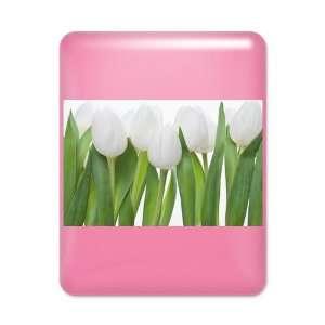 iPad Case Hot Pink White Tulips Spring