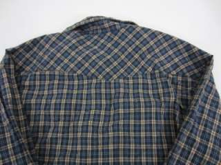 Mens JESSE JAMES WEST COAST CHOPPERS Plaid Cotton Pearl Snap Shirt