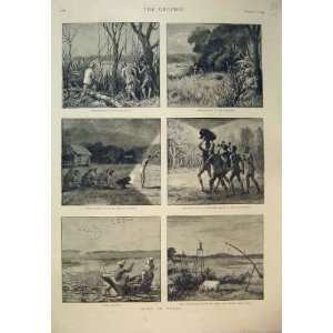 1890 Sport Burmah Deer Shooting Jheel Birds Cattle Home