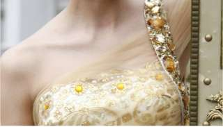 NEW Gorgeous Gold Long Evening Gowns/Wedding Dresses #8050594