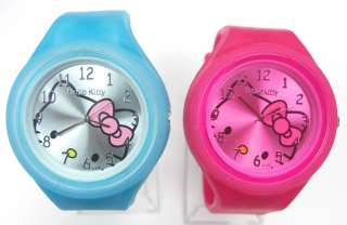 pieces Hello Kitty Silicone Quartz Wrist Watch Mix Wholesale Lot of
