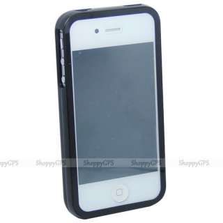 Black iPhone 4S 4G Front+Black Hard Case Skin Cover Screen Protector