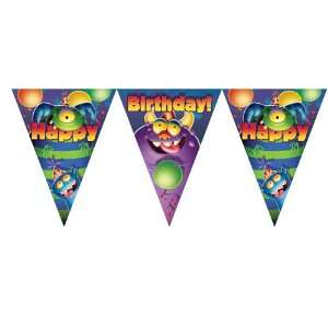 Monsters Birthday Flag Banners