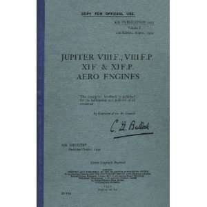 VIII XI Aircraft Engine Maintenance Manual Bristol Jupiter Books