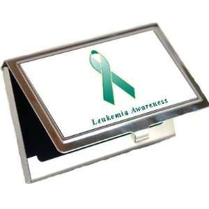 Leukemia Awareness Ribbon Business Card Holder: Office