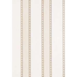 Lansdowne Strie Stripe Limestone by F Schumacher Wallpaper