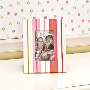 Girls Study Time Striped Picture Frame