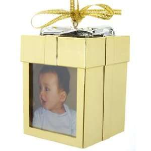 Recordable Ornament   Gold Christmas Ornament