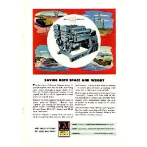 1945 Ad General Motors Series 71 Diesel Engine Marine Unit