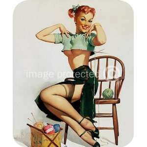 Spicy Yarn Vintage Gil Elvgren Sexy Pinup Girl MOUSE PAD