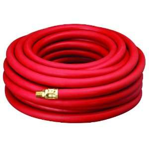50 Red 300 PSI Rubber Air Hose 1/2 x 50 With 1/2 MNPT End Fittings