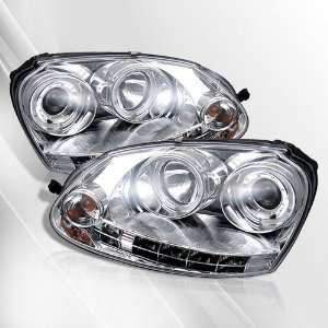 07 08 Projector Headlights /w LED Halo/Angel Eyes ~ pair set (Chrome