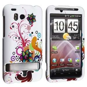 Autumn Flower Snap on Rubberized Hard Case with FREE Reusable Screen