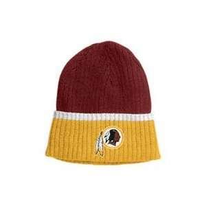 Washington Redskins NFL Striped Rib Knit Hat