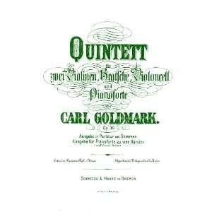 Goldmark Piano Quintet No.1 op. 30 (MUSIC SCORE FACSIMILE REPRINT