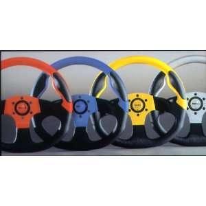 MOMO Commando Series Steering Wheel   Black/Blue