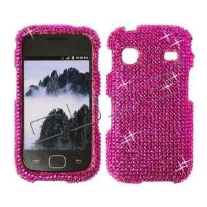 Hot Pink CRYSTAL RHINESTONE DIAMOND BLING COVER CASE 4 Samsung Repp