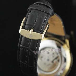 Men Luxury Gold Face Calendar Small Bit Watch NEW Gift