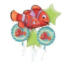 FINDING NEMO 3D Happy Birthday Balloons Bouquet