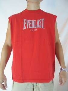 Everlast Men Sports Gym Workout Red Sleeveless T Shirt