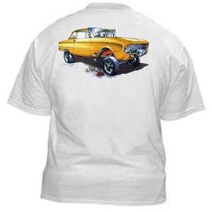 SS327 Hot Rod T Shirt Falcon NHRA Gasser Drag Racing