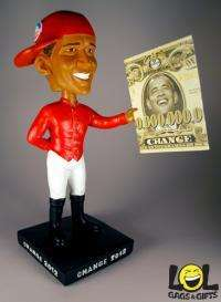 Anti Obama Outta Da Hood Lawn Jockey Bobblehead Doll OMG