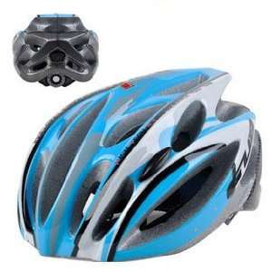 light blue riding helmet / high quality integrated ultra light bicycle