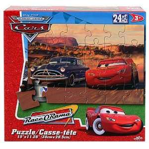 Disney Cars RaceORama 24 PCS Puzzle   [McQueen and Doc