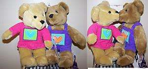 Hallmark Valentines Day Love & Kiss Kiss Bears Plush Stuffed Animals