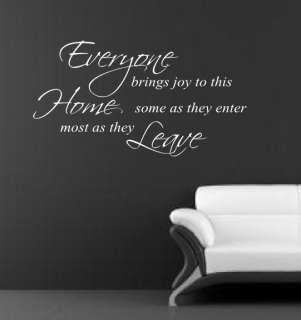 Home Most Bring Joy WALL ART STICKER DECAL QUOTE