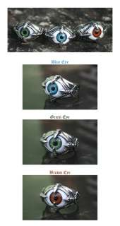 Blue Green Brown EYE Mens & Womens Fashion Ring/NAIL_MULTI