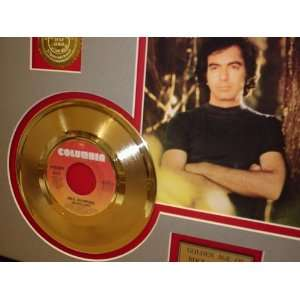NEIL DIAMOND GOLD RECORD LIMITED EDITION DISPLAY