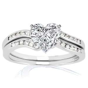 similiar heart shaped enement rings zales keywords - Heart Wedding Ring Set
