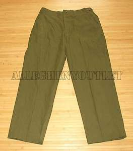 USGI MILITARY ARMY M1951 M 1951 Green Wool Pants BUTTON FLY Cold
