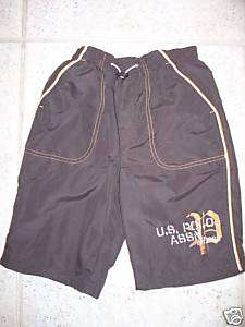 BOYS US POLO ASSN SWIM TRUNK BOARD SHORTS NWT SZ 4