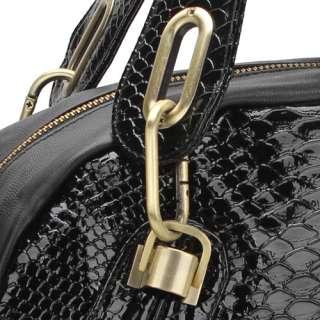 Python Snake Skin Faux PU Leather Shoulder Bag Handbag Messenger Bag