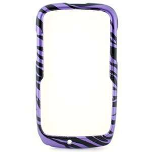 Purple / Black Zebra Snap On Cover for Motorola Theory