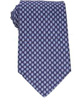 Salvatore Ferragamo sea blue buckle pattern Fibbia silk tie