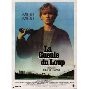 La Gueule du loup Movie Poster (11 x 17 Inches   28cm x 44cm) (1981