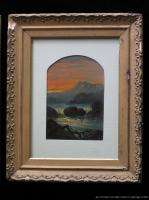 Pair of Framed Antique Hudson River School Landscape Oil Paintings ca
