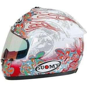 Suomy Excel Flower Helmet   X Large/White Automotive