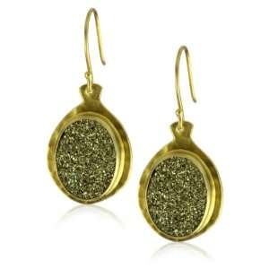 Heather Benjamin Kalapa Pyrite Hammered Gold Plated Earrings