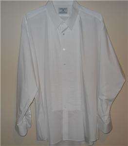 LORD WEST BIG MENS WHITE TUXEDO SHIRT NECK 19 SZ 2XL