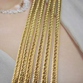 18k Real Yellow Gold Filled Snake Chain GF Necklace Men Lady Jewelry