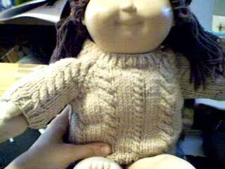 Cable Twist Sweater Handmade for American Girl Doll